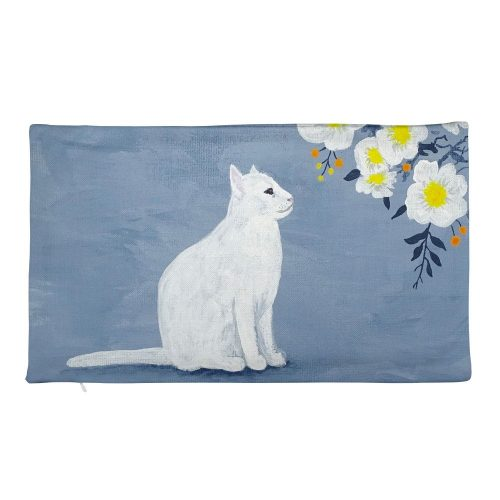 grey yellow rectangle cushion cover