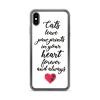 cat saying phone case