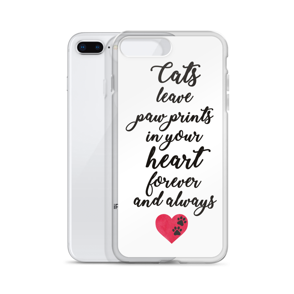 Cats Leave Pawprints Quote Phone Case
