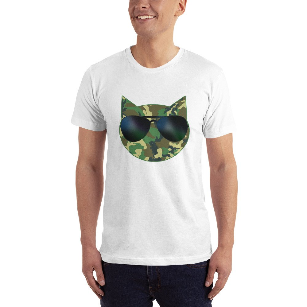 Camo Cat with Sunglasses T-Shirt