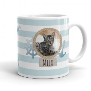 nautical pets photo mug gift