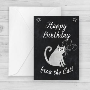 birthday card from cat