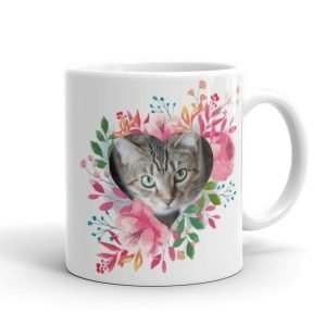 heart flowers photo mug