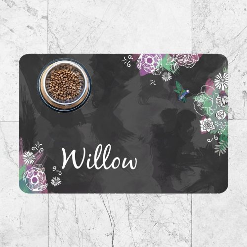 Dark Flowers Custom Pet mat