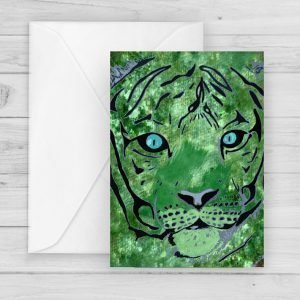 hidden tiger jungle greetings card