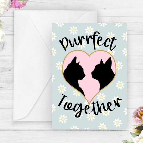 perfect together cat love card
