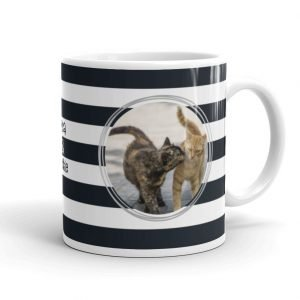 stripes photo mug gift