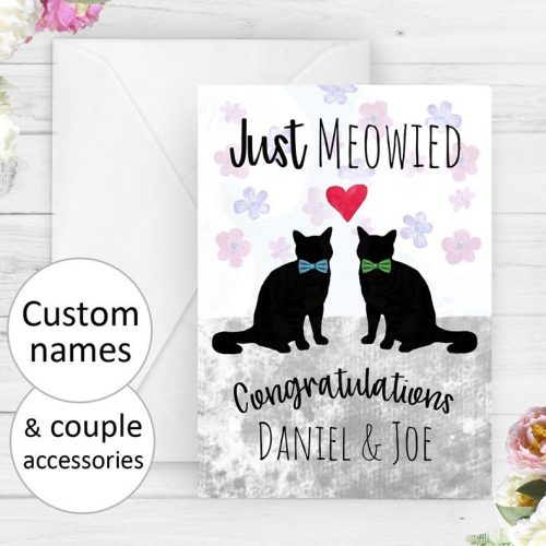Personalized Mr & Mr Wedding Card