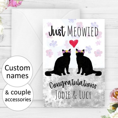 Personalized Mrs & Mrs Lesbian Wedding Card