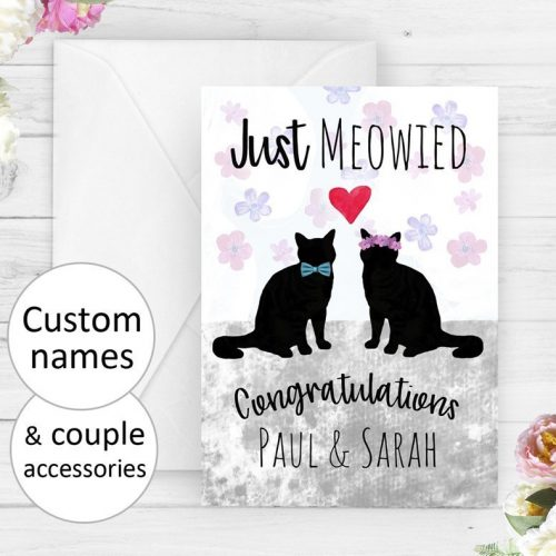 Personalized Mr & Mrs Wedding Card