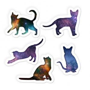 space cats stickers