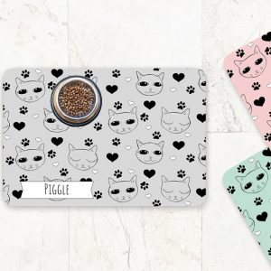 cute cat feeding mat