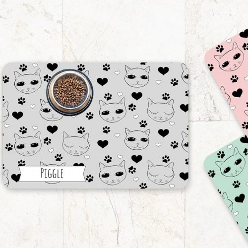 cute cat feeding mat shop