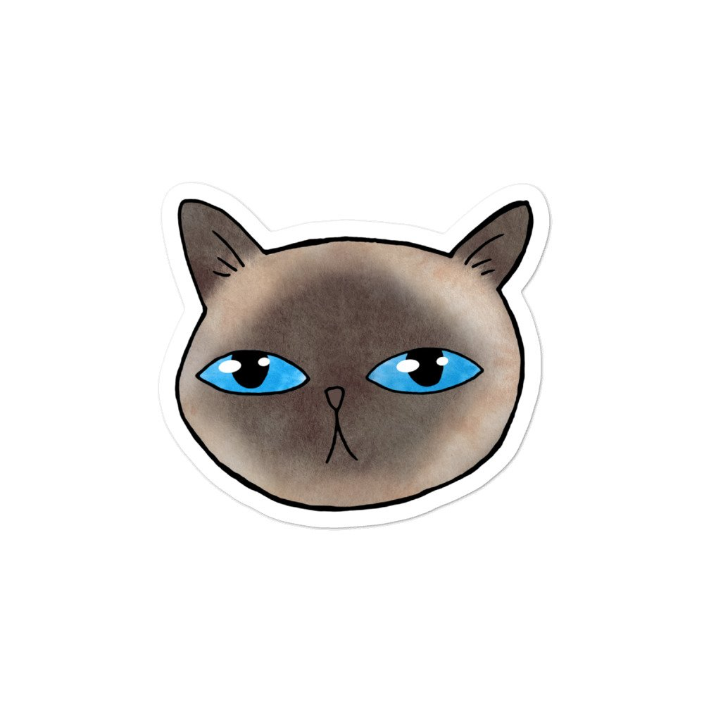 siamese cute cat sticker
