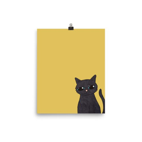 black cat mustard art