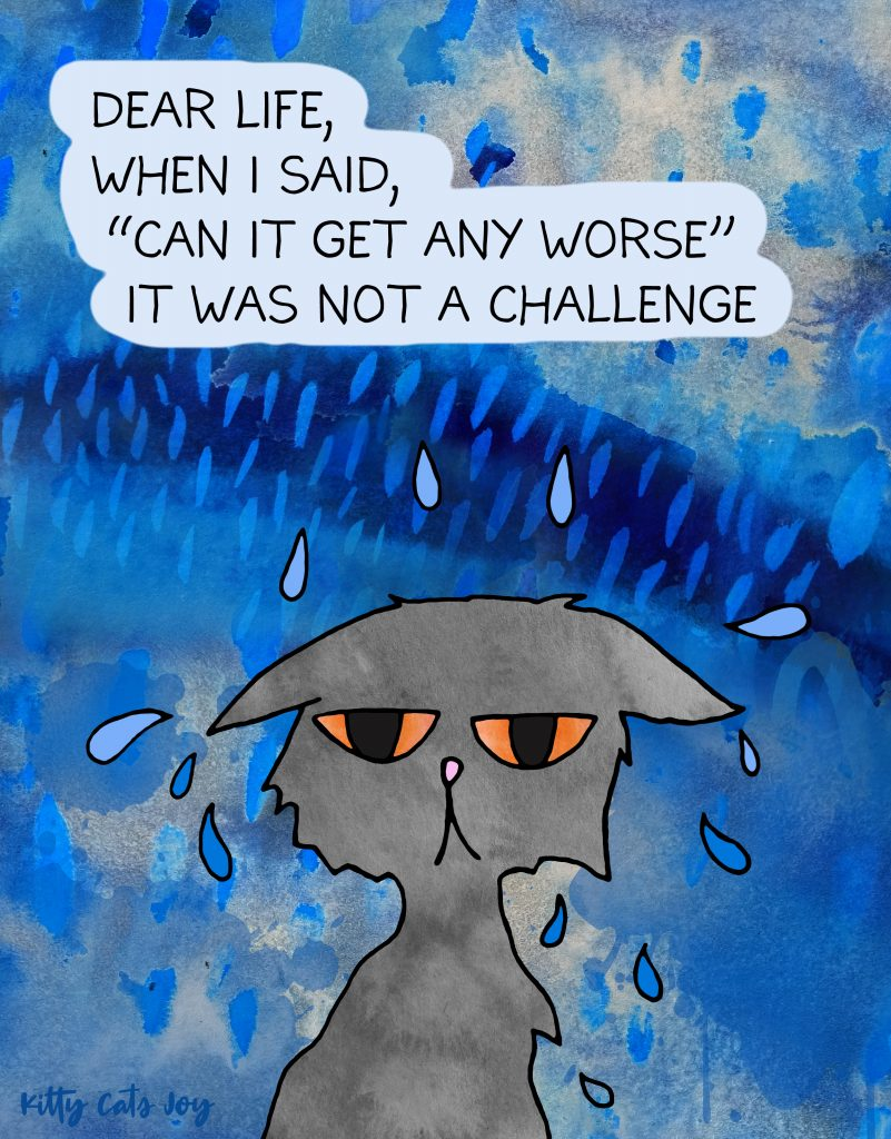 Rainy Day - Funny Unproductive Cat Quotes