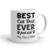 Personalized Best Cat Dad Ever Coffee Mug Gift