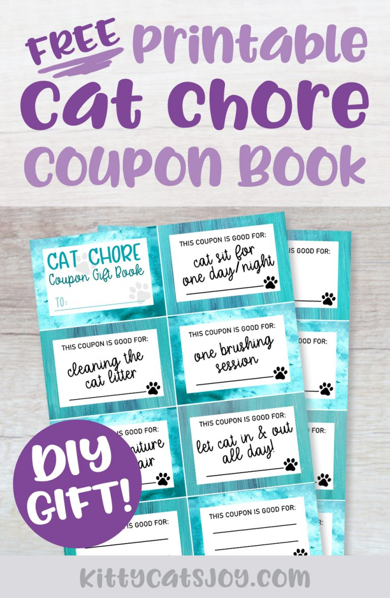 Free Printable Cat Chore Gift Coupon Book