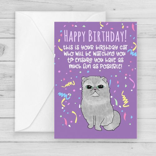 Funny Cat Years Birthday Card