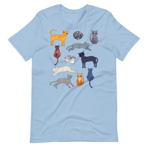 Cat Breeds Illustration T-Shirt