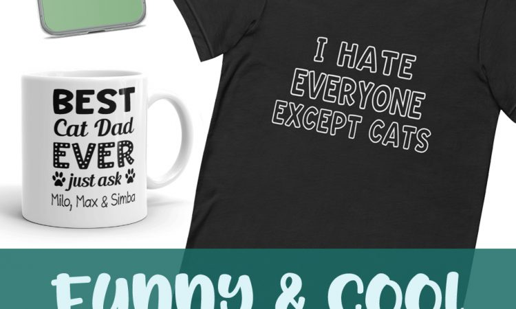 Funny Cool Cat Dad Gift Ideas