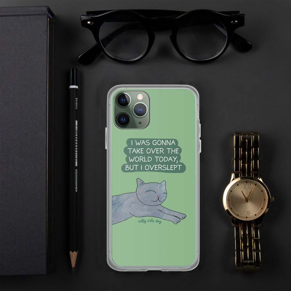 Cat Humor Comic Green Phone Case