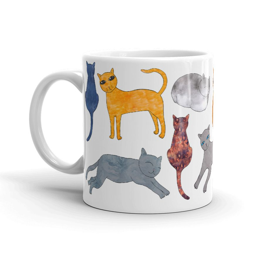 Cat Breeds Illustration Mug