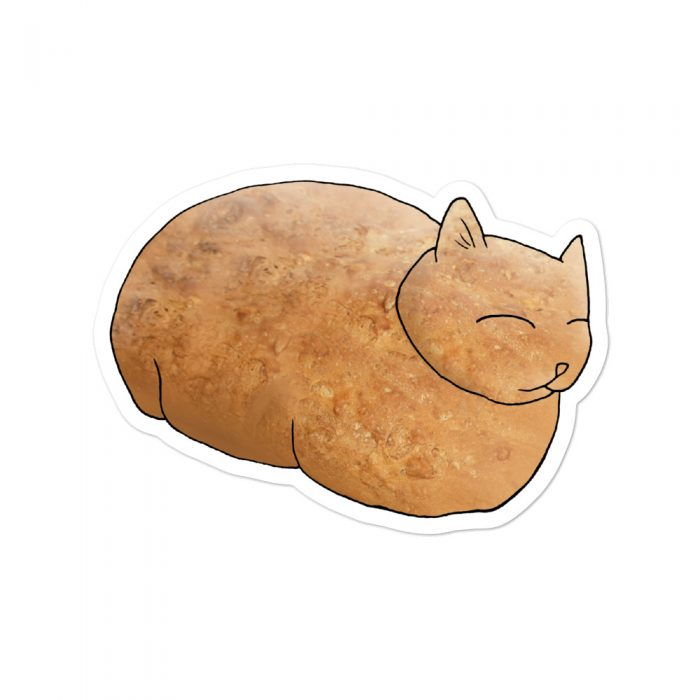 Cat Bread Loaf Sticker Decal