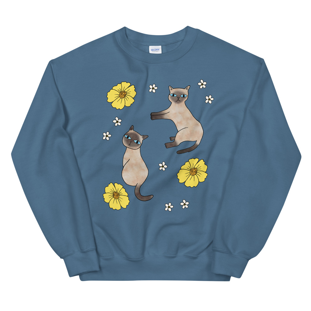 Cats and Florals Sweater