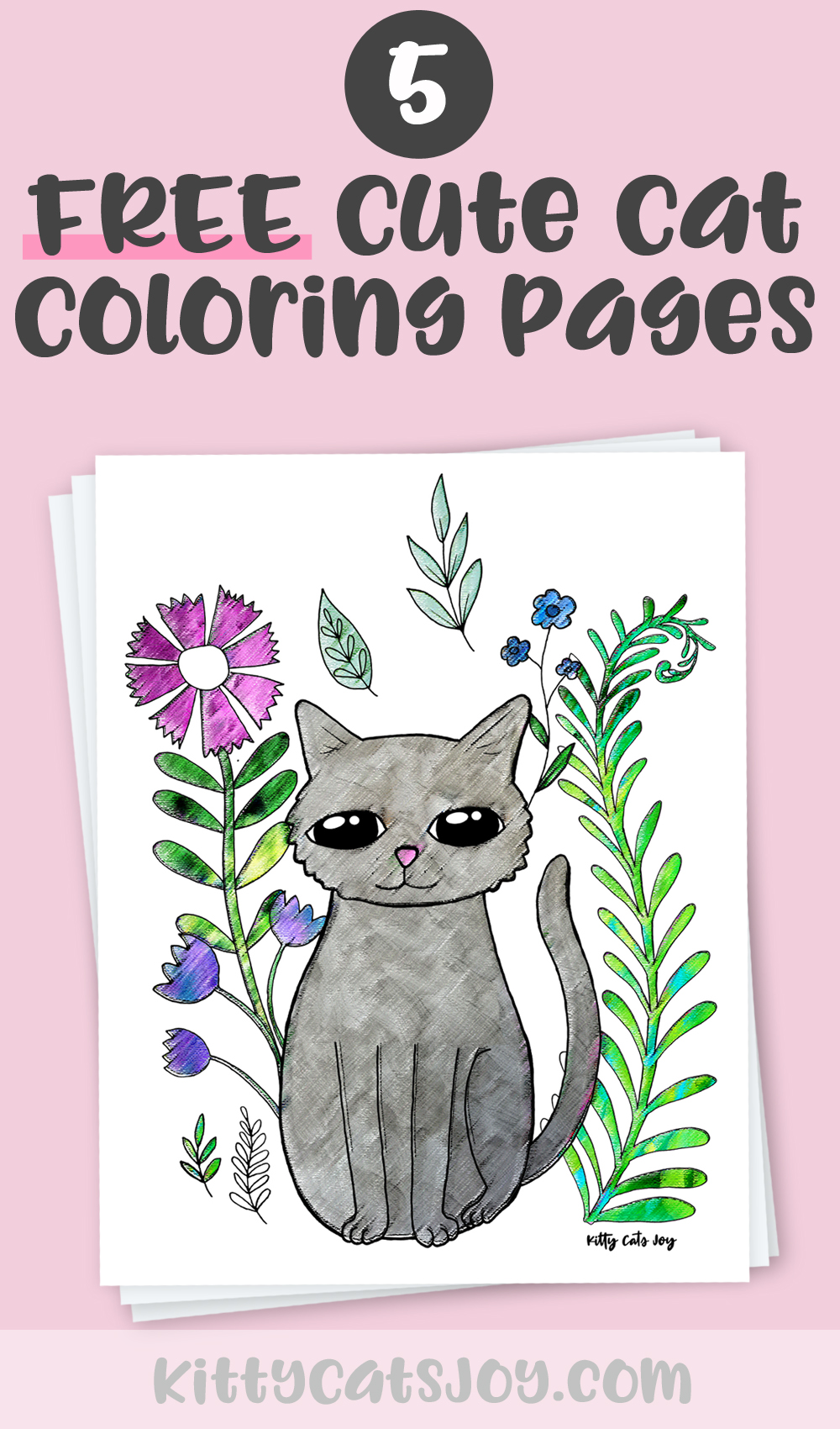 Free Cute Cat Coloring Pages Kitty Cats Joy