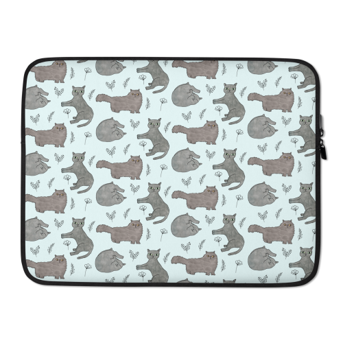 Fun Cat Laptop Zipped Case