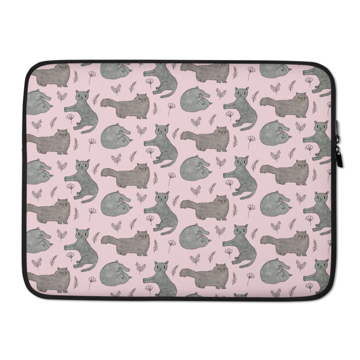 Cute Cats Pink Laptop Case