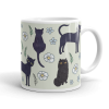 Black Cats Illustration Coffee Mug