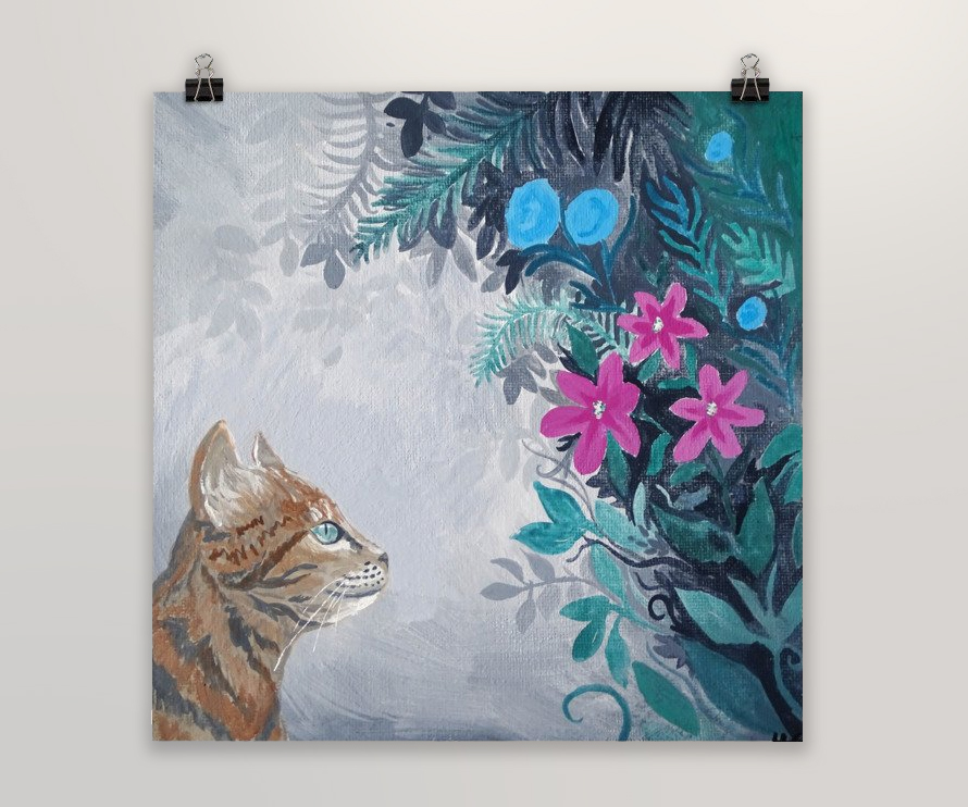 Cat Painting Wall Art