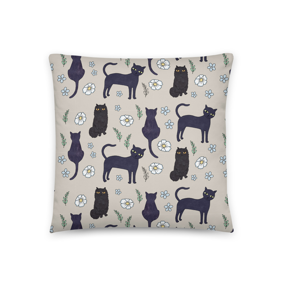 Black Cats 18″x18″ Throw Cushion